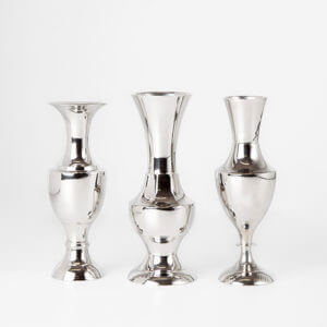 Assorteret sølvlysestage