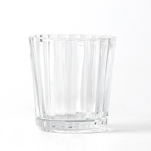 fyrfadsstage i rillet glas