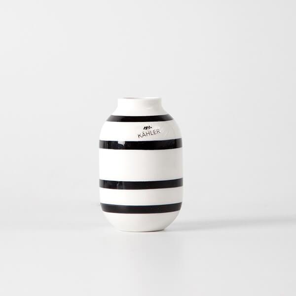 kähler vase sort stribet